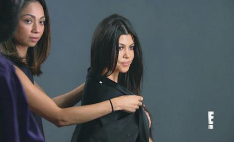 Kourtney Kardashian: Naked on Keeping Up with the Kardashians