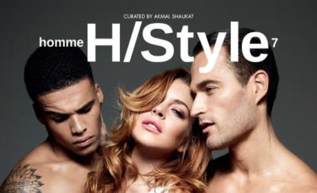 Lindsay Lohan Poses With Naked Dudes For Cracked-Out Photo Shoot