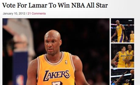 Kim Kardashian Kampaigns for Lamar Odom, Is a Moron