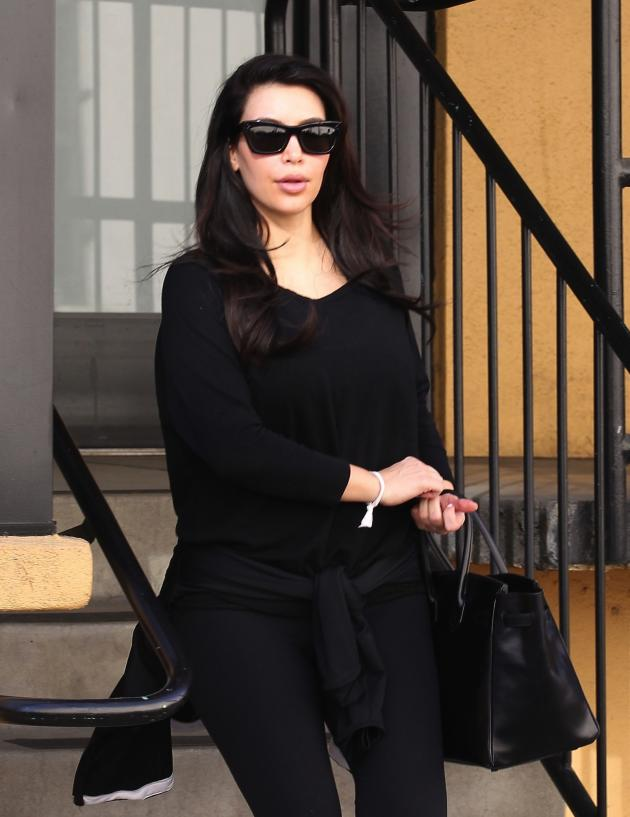 Kim Kardashian in All Black