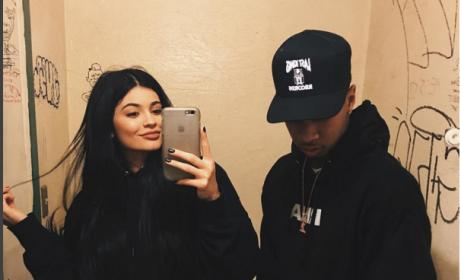 Kylie Jenner Fools Around With Shirtless Tyga in Bed: PHOTOS