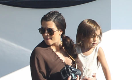 Kim Kardashian with Mason