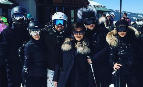 Kim Kardashian and Kanye West Barely Talked During Ski Vacation!