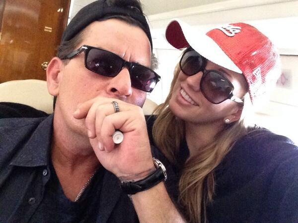 Charlie Sheen and Brett Rossi: Wedding Ring Photo
