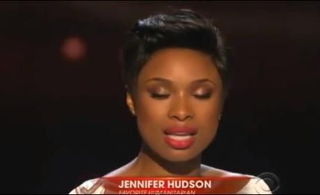 Jennifer Hudson Inspires, Turns Emotional at People's Choice Awards