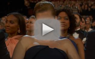 Amy Adams Checks Phone at Oscars