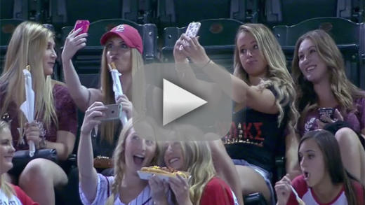 Sorority girls get hilariously slammed for receiving selfies at bas