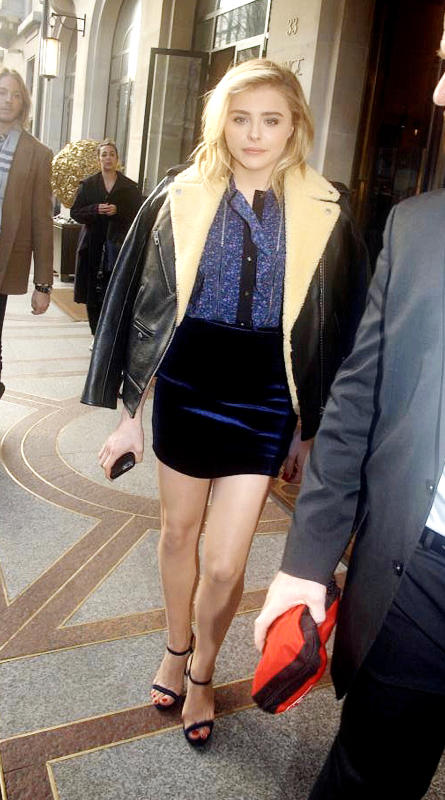 Chloe Grace Moretz Leaves the Prince de Galles Hotel in Paris