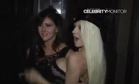 Courtney Stodden Kisses Mother on Lips