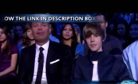 Usher and Bieber on Idol