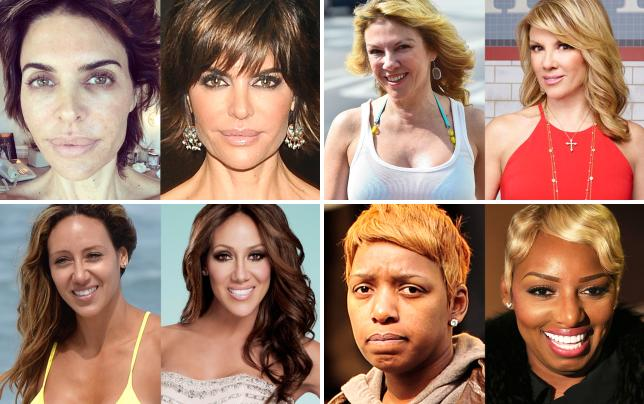 17 photos of real housewives with and without makeup lisa rinna