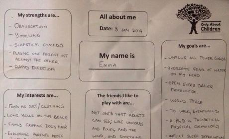 Dad NAILS Day Care Questionnaire
