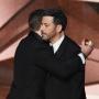Matt Damon Hugs Jimmy Kimmel Emmys 2016