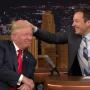 Jimmy Fallon Tussles Donald Trump's Hair
