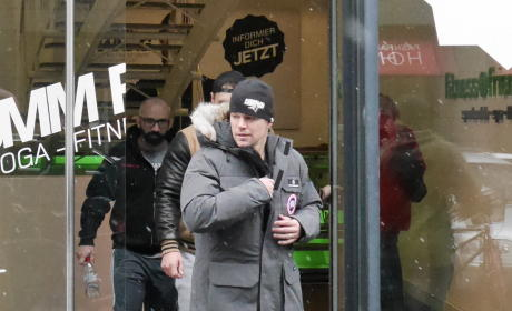 Matt Damon Leaves a Berlin Gym