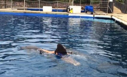 Kim Kardashian Rides Dolphin, Probably Pretends Mammal is Ray J