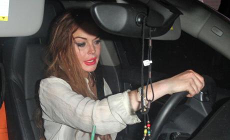 Lindsay Lohan Driving