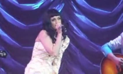 Katy Perry Covers Lady Gaga Live in Paris