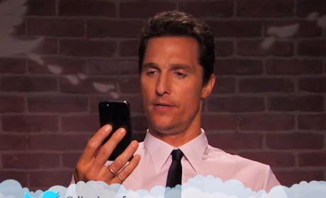 Celebrities Read More Mean Tweets: Matthew McConaughey is a D-ck Turd!