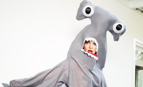 Kendall Jenner Dresses as Seductive Shark