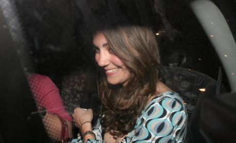 Kate Leaves Mahiki Nightclub in April 2007