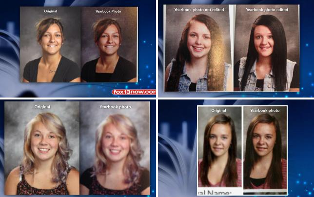 Photoshopped yearbook photo