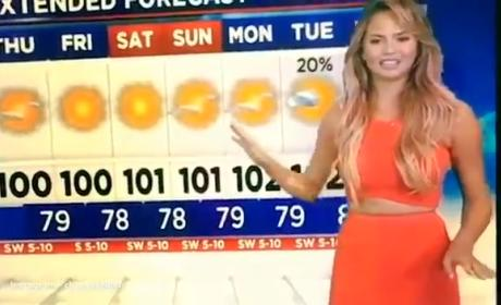 Chrissy Teigen is a Terrible Meteorolgist: Video Evidence!