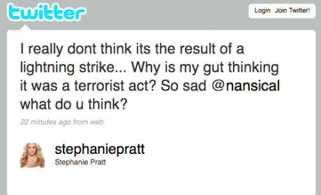Stephanie Pratt Tweets Theory on Missing Air France Flight
