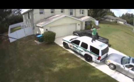 Florida Man Dances to Hall & Oates on Top of Cop Car