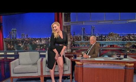 Amy Schumer (Sort Of) Flashes David Letterman
