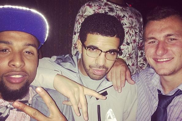 Johnny Manziel and Drake