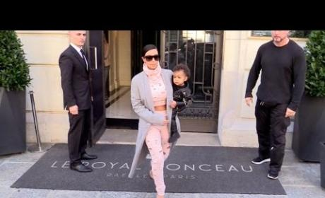 Kim Kardashian Leaves North West in Hotel!