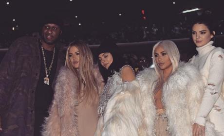 Khloe Kardashian and Lamar Odom: Adorably Close at Kanye's Show!