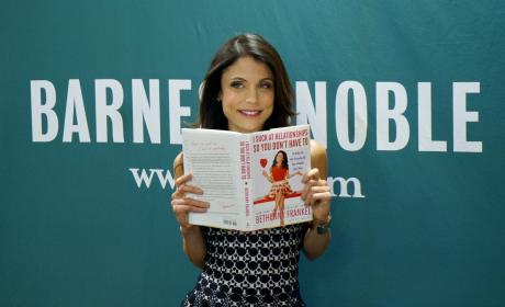 Bethenny Frankel with Book