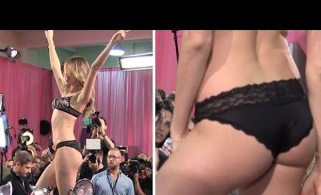 TMZ Pisses Off Victoria's Secret Model Backstage