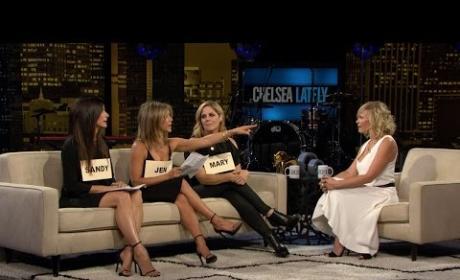 Mary McCormack, Jennifer Aniston and Sandra Bullock on Chelsea Lately