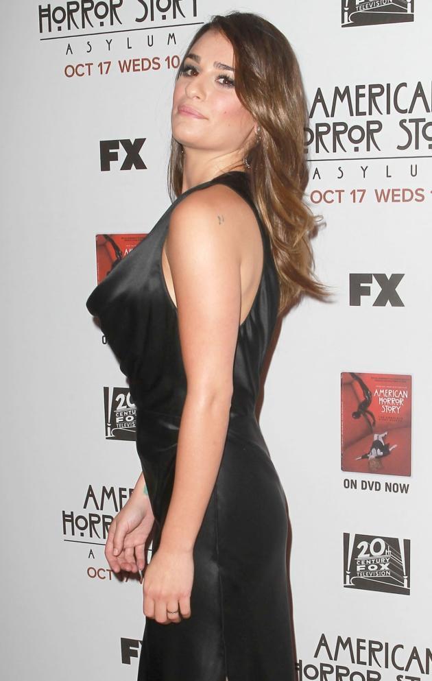 Lea Michele, Black Dress