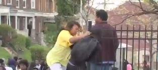Mom Beats Son During Baltimore Riots