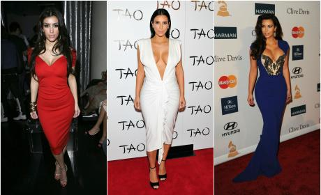 18 Photos of Kim Kardashian In Red, (Tight) White And Blue