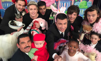 One Direction Poses with Jimmy Kimmel, Stuffed Animals and a Baby: The #CutestSelfieEver?