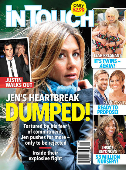 Jennifer Aniston Dumped?