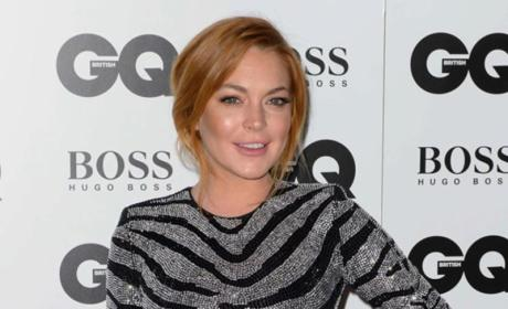 Lindsay Lohan at 2014 GQ Awards