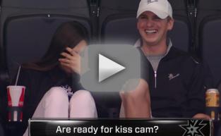Awkward Kiss Cam Stars Can't Avoid the Spotlight