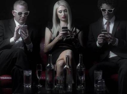 Paris Hilton in Drunk Text Video
