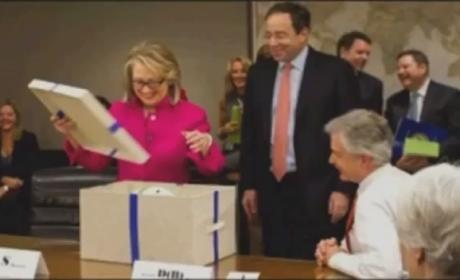 Clinton Given Helmet