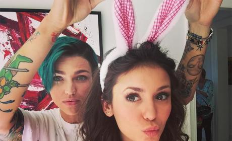 Nina Dobrev and Ruby Rose