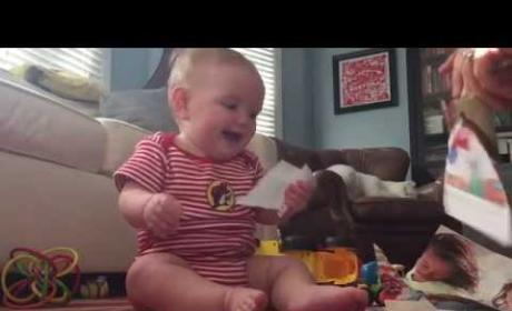 Baby CRACKS UP Over Ripped Catalog Pages