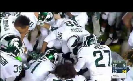 Michigan State Football Defeats Michigan on Most Shocking Final Play EVER