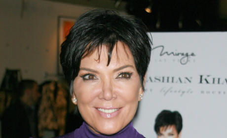Kris Jenner in Purple