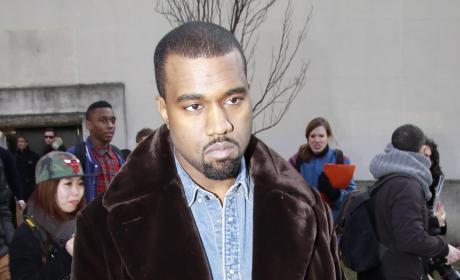 Kanye West Looks Sad